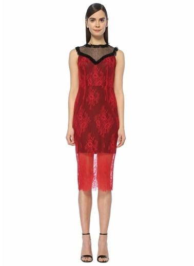 Diane Von Furstenberg Kokteyl Elbise Kırmızı